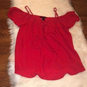 Red light blouse